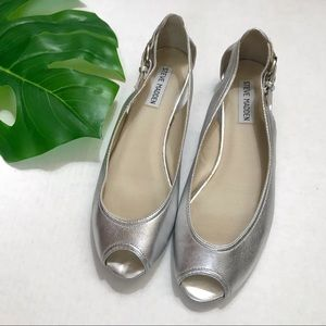 Steve Madden Open Toe Leather Shoes 8M